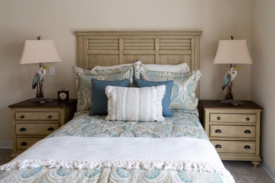 Bedroom Of Independent Living Apartment At Seagrass Village Of Panama City Beach