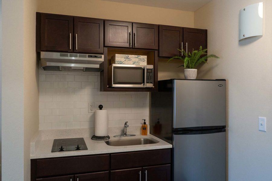 Kitchenette In Independent Living Apartment At Seagrass Village Of Panama City Beach