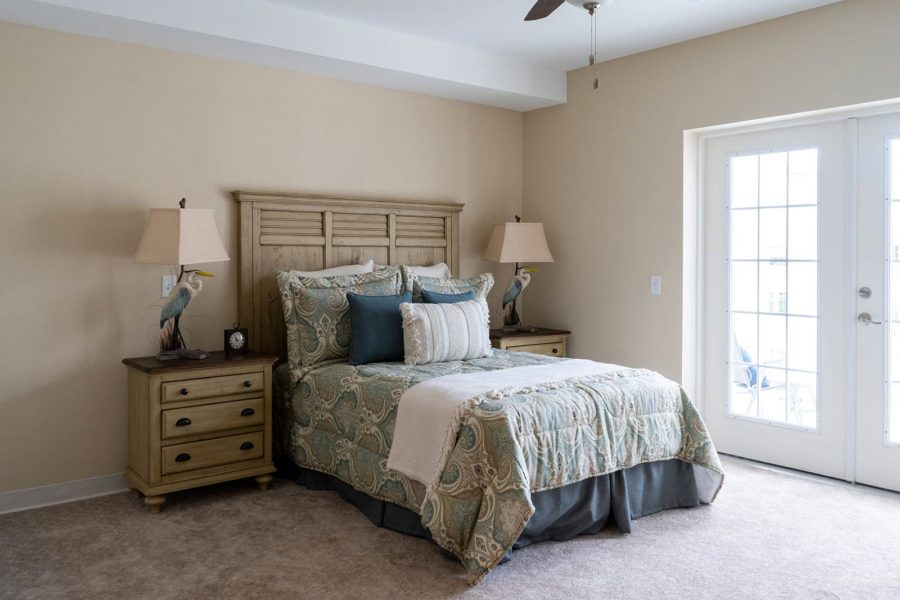 Sleeping Area Of Studio Independent Living Apartment At Seagrass Village Of Panama City Beach