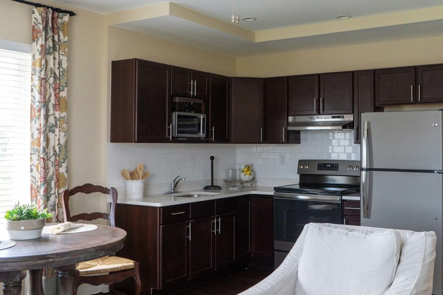 Full Size Kitchen In Independent Living Apartment At Seagrass Village Of Panama City Beach